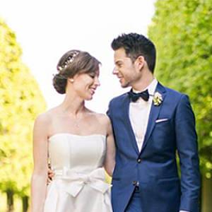 Glückliches Hochzeitspaar Chrissi und Daniel